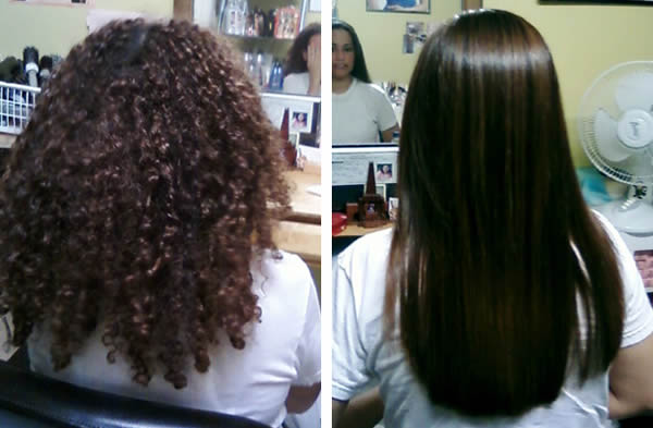 Keratin Treatment: Before & After Photo 1