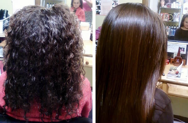 Keratin Treatment: Before & After Photo 2