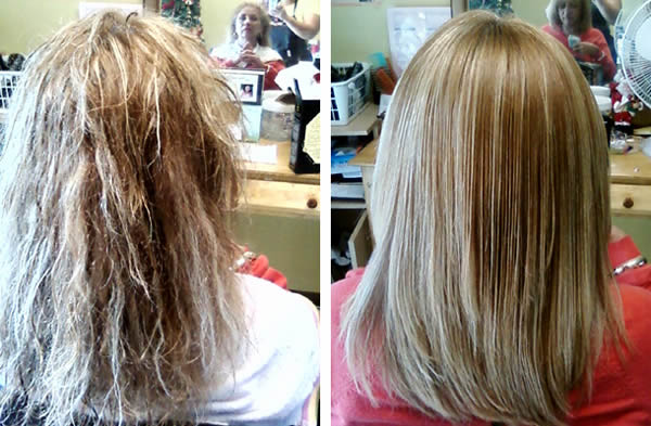 Keratin Treatment: Before & After Photo 3